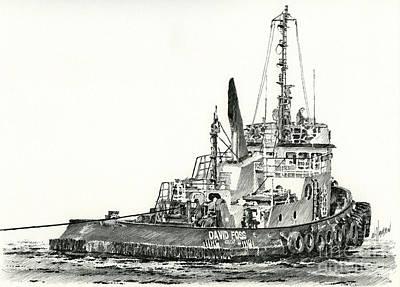 Tugboat David Foss Print by James Williamson