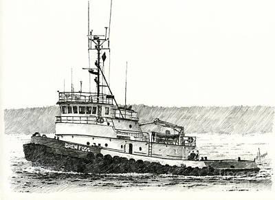Tugboat Drew Foss Print by James Williamson