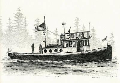 Tugboat Henrietta Foss Print by James Williamson