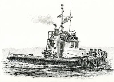 Tugboat Kelly Foss Print by James Williamson