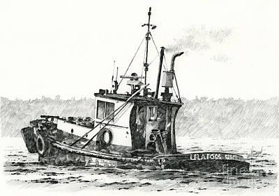 Tugboat Lela Foss Print by James Williamson