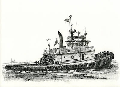 Tugboat Shelley Foss Print by James Williamson