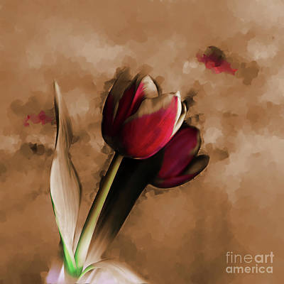 Usa Painting - Tulip 043d by Gull G