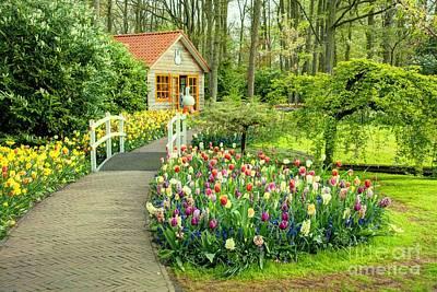 Tulip Cottage  Print by Rob Hawkins