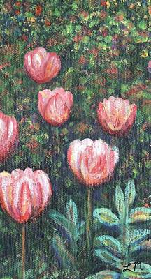 Tulip Painting - Tulip Garden One Part C by Linda Mears