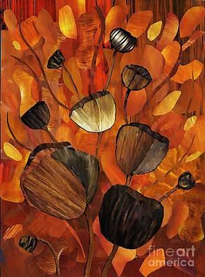 Violin Mixed Media - Tulips And Violins by Sarah Loft