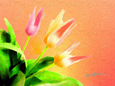 Tulips Three Print by Anthony Caruso