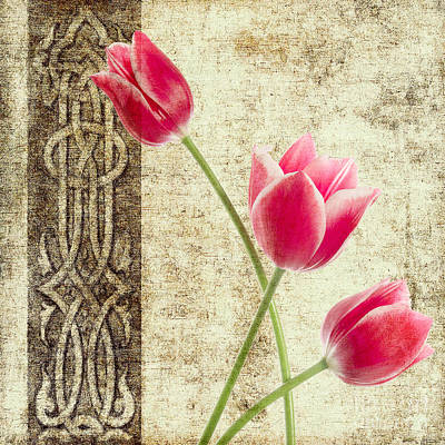 Nature Abstract Painting - Tulips Vintage  by Mark Ashkenazi