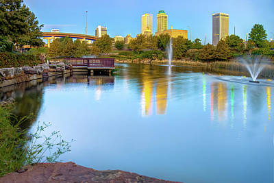 Skylines Photograph - Tulsa At Dawn by Gregory Ballos