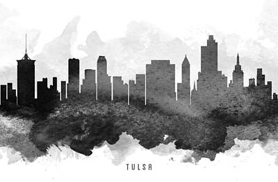 Tulsa Cityscape 11 Print by Aged Pixel