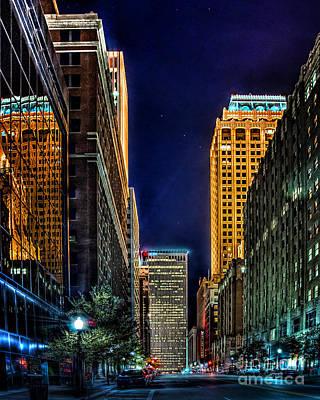 Tulsa Nightlife Print by Tamyra Ayles