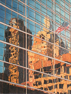 Tulsa Relections 2 Print by Kenny King
