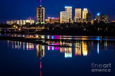 Tulsa Skyline At Twilight Print by Tamyra Ayles