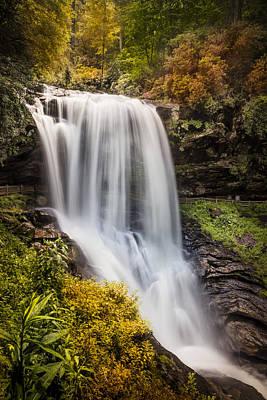 Tumbling Waters At Dry Falls Print by Debra and Dave Vanderlaan