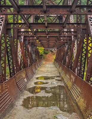 Unspoiled Art Photograph - Tumwater Canoyn Pipeline Bridge by Mark Kiver