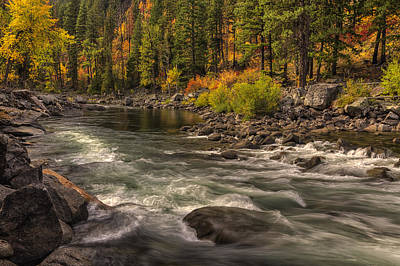 Unspoiled Art Photograph - Tumwater Canyon Colors by Mark Kiver