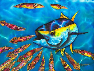 Tuna And  Squid II Print by Daniel Jean-Baptiste