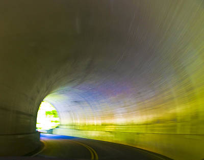 Smokey Mountain Drive Photograph - Tunnel #1 by Terry Anderson