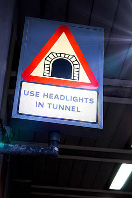 Tunnel Sign Print by Tom Gowanlock