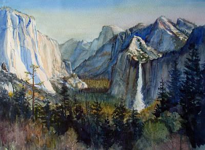 El Capitan Painting - Tunnel View Yosemite Valley by Howard Luke Lucas