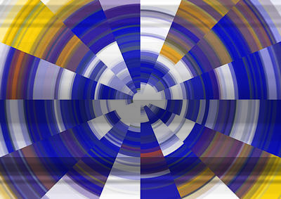 Abstract Windmill Digital Art - Tunnel Vision by Debbie McIntyre