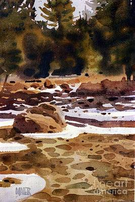 Tuolumne River Freeze Print by Donald Maier