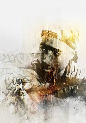 Singer Painting - Tupac 121 by Jani Heinonen