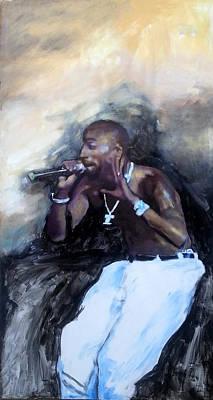 Beyonce Painting - Tupac Amaru Shakur by Jani Heinonen