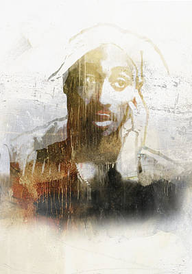 Jay Z Digital Art - Tupac Graffitti 27 by Jani Heinonen