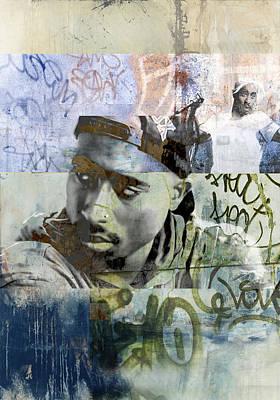 Tupac Graffitti 6078 Print by Jani Heinonen