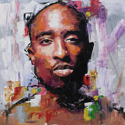 Rapper Painting - Tupac by Richard Day
