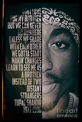 Rap Digital Art - Tupac Shakur by Jonas Luis