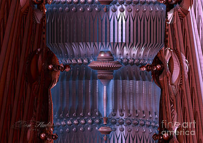 Abstract Digital Art - Turbine Engine by Melissa Messick