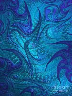 Turbulent Digital Art - Turbulence by John Edwards
