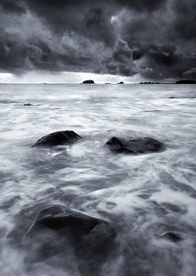 Squall Photograph - Turbulent Seas by Mike  Dawson