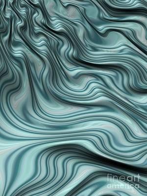 Turbulence Digital Art - Turbulent Stream by John Edwards