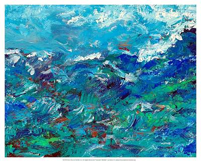 Turbulent Waters Print by Empowered Creative Fine Art