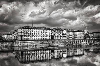 Turin Shrouded In Cloud Print by Carol Japp
