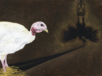 Rights Painting - Turkey Shadow by Twyla Francois