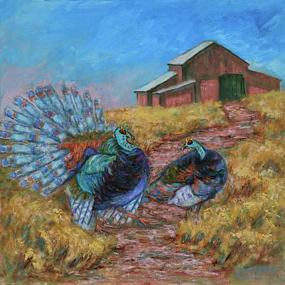 Painting - Turkey Tom's Tango by Xueling Zou