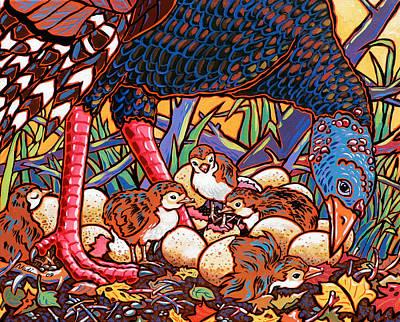 Turkeys Print by Nadi Spencer