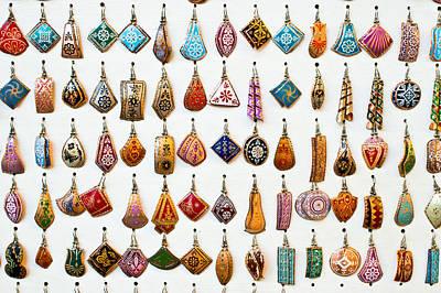 Gemstones Photograph - Turkish Earrings by Tom Gowanlock