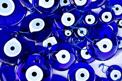 Necklace Photograph - Turkish Eye Souvenirs by Tom Gowanlock