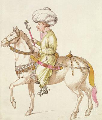 Horse Portrait Drawing - Turkish Horseman by Albrecht Durer