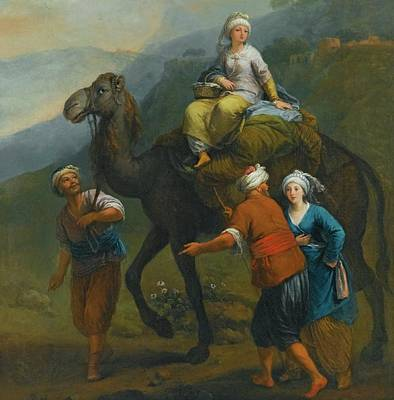 En Route Painting - Turkish Pilgrims En Route To Mecca by Eastern Accents