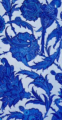 Ceramic Tile Photograph - Turkish Textile Pattern by Turkish School