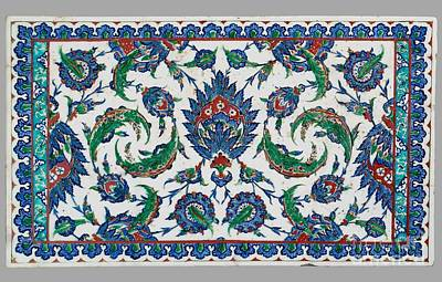 Composite Painting - Turkish Tile Panel With Decoration Of Composite by MotionAge Designs