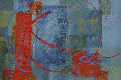 Red Painting - Turmoil Within Calmness by Leana De Villiers