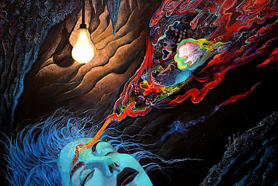 Ayahuasca Painting - Turn The Light On by Steve Griffith