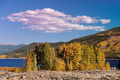 Turning Aspens And Wandering Clouds - Twin Lakes Arkansas River Valley - Rocky Mountains Colorado Print by Silvio Ligutti